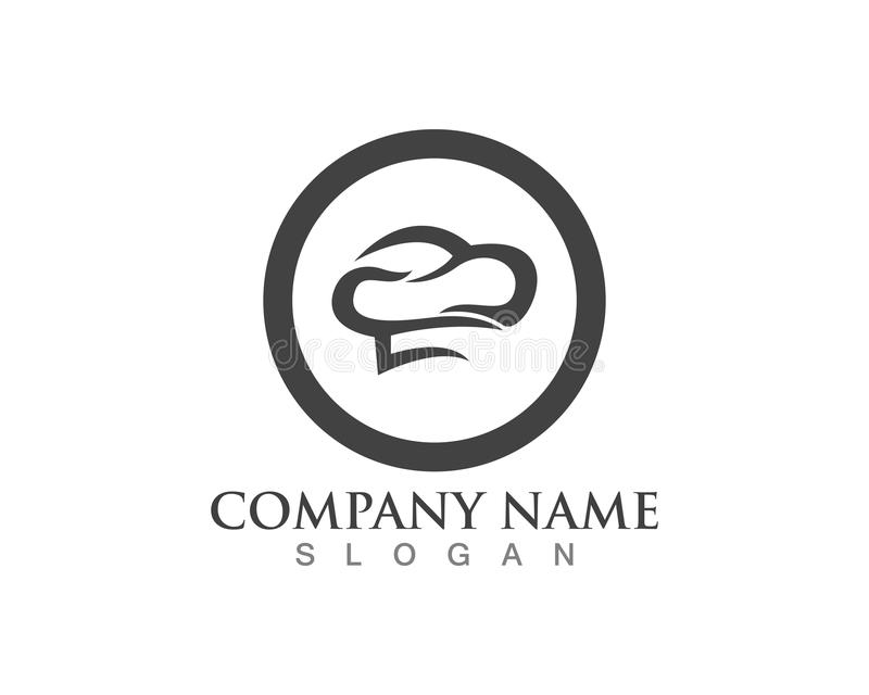Hat chef logo template vector illustration.  royalty free illustration