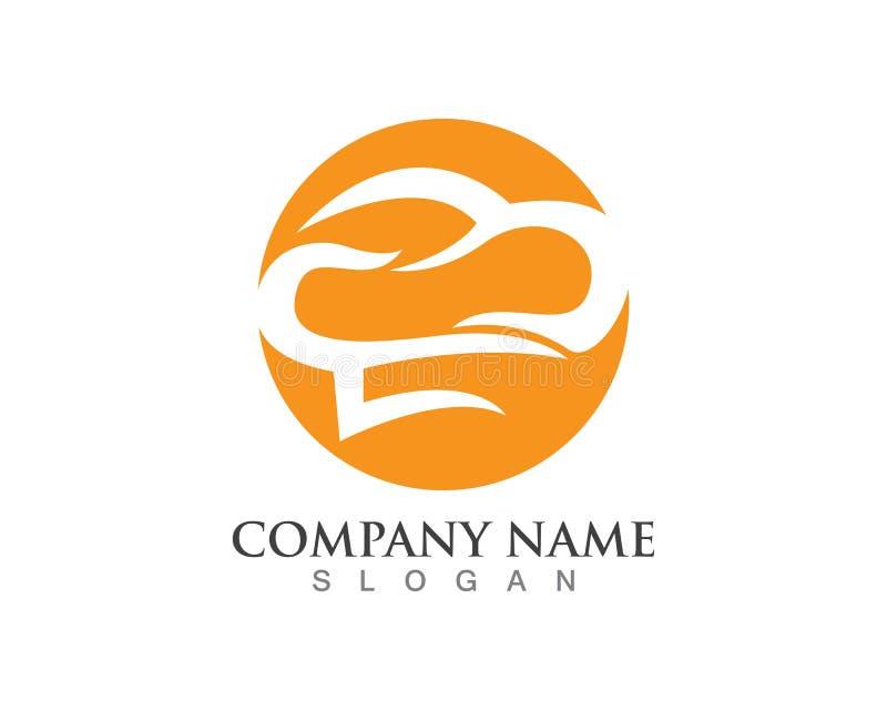 hat chef logo template vector illustration royalty free illustration