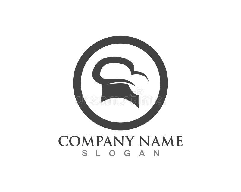 hat chef logo template vector illustration stock illustration