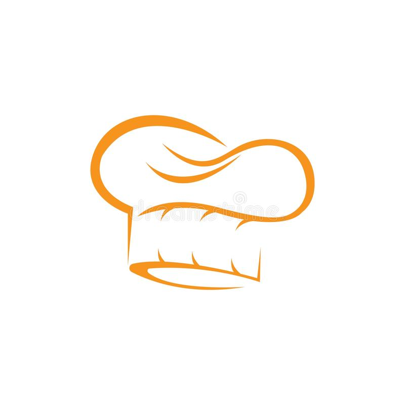 Hat chef logo template stock illustration