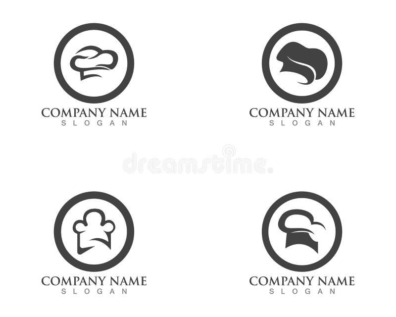 hat chef logo template vector illustration vector illustration