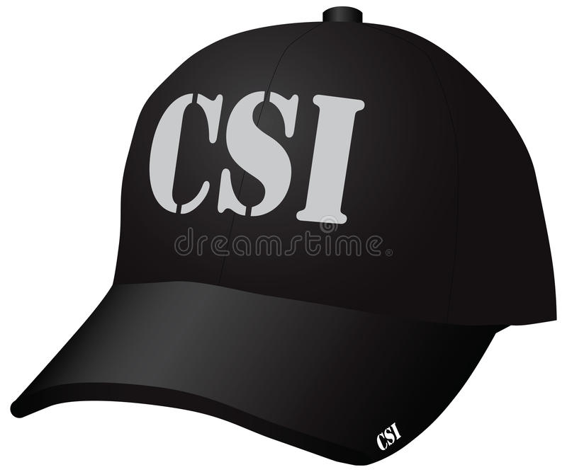 Hat CSI royalty free illustration