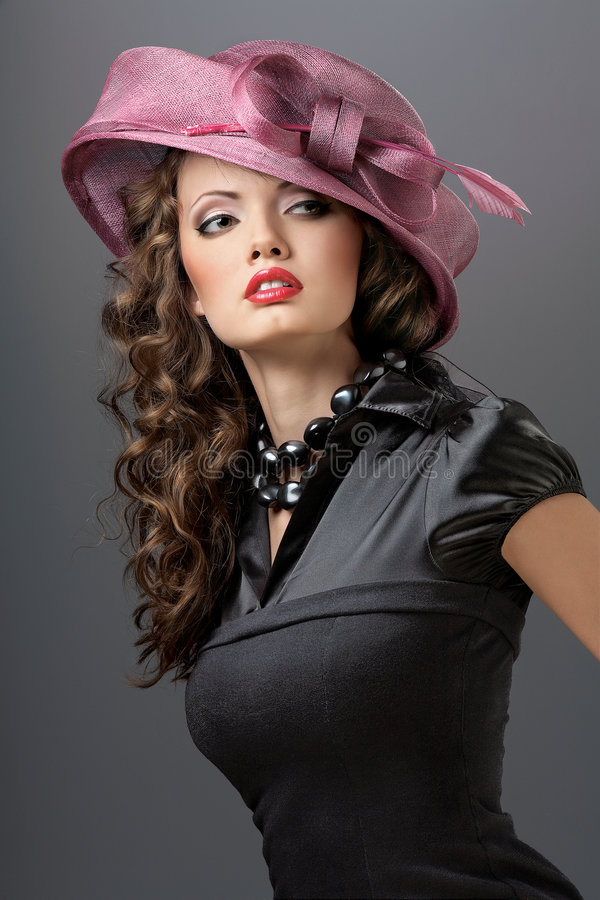 Hat and dress. royalty free stock image