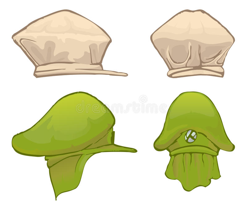 Hat front and side view
