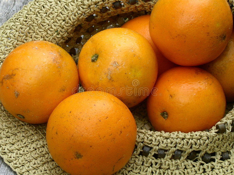 Download Hat full of oranges stock photo. Image of fresh, healthy - 12774