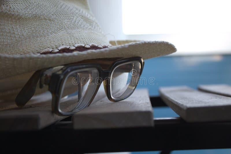 Hat & glas stock image