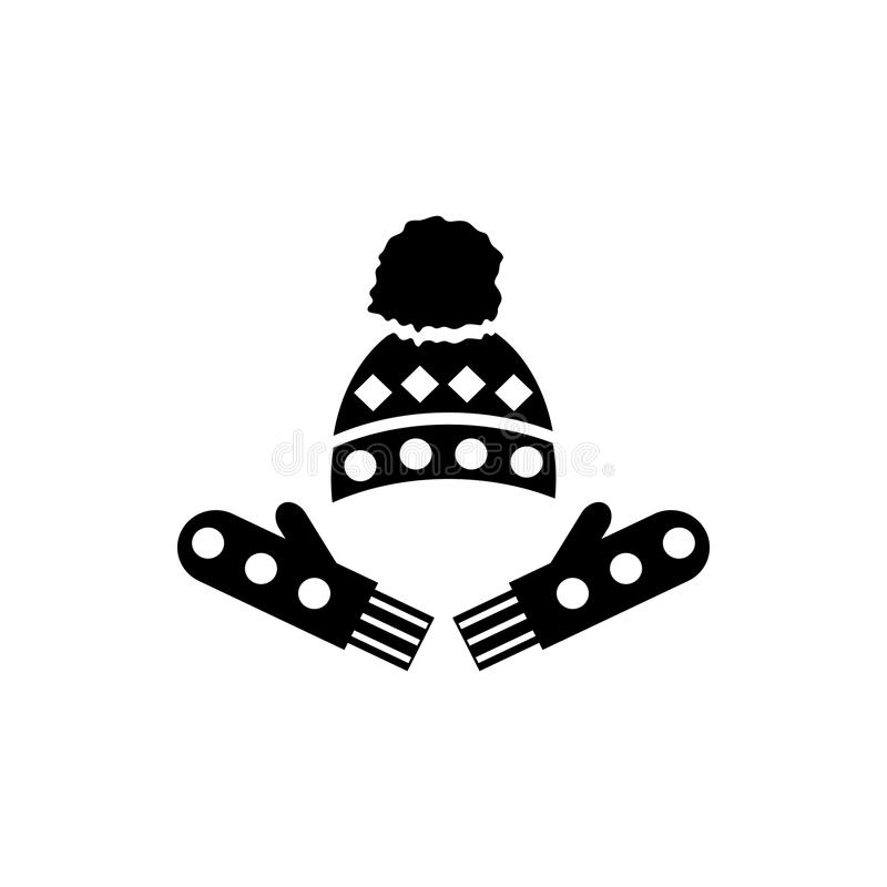 Hat And Gloves Icon Simple Style Stock Vector Illustration Of