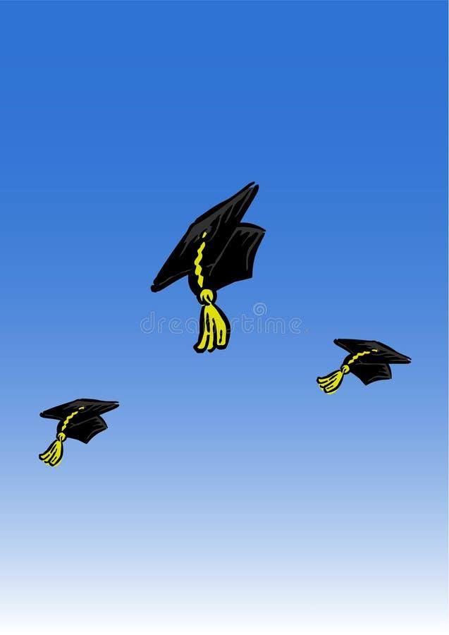 Hat graduation royalty free illustration