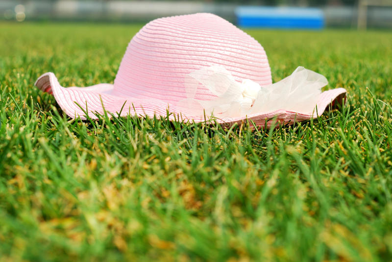 A Hat On Grass Stock Image