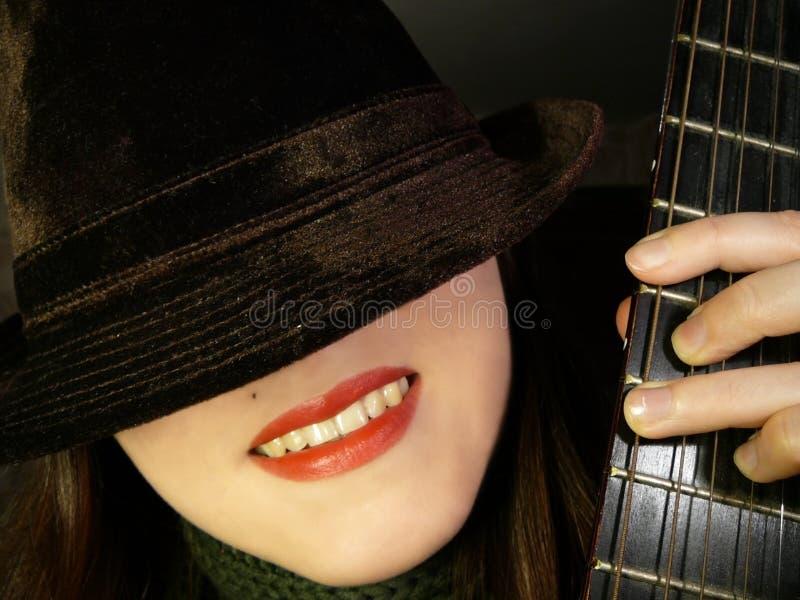 Download Hat&guitar#1 stock photo. Image of guitar, musical, joke - 2136020