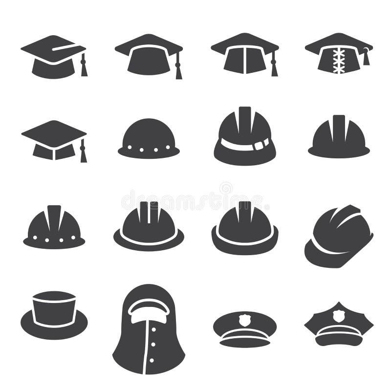 Hat icon set royalty free illustration
