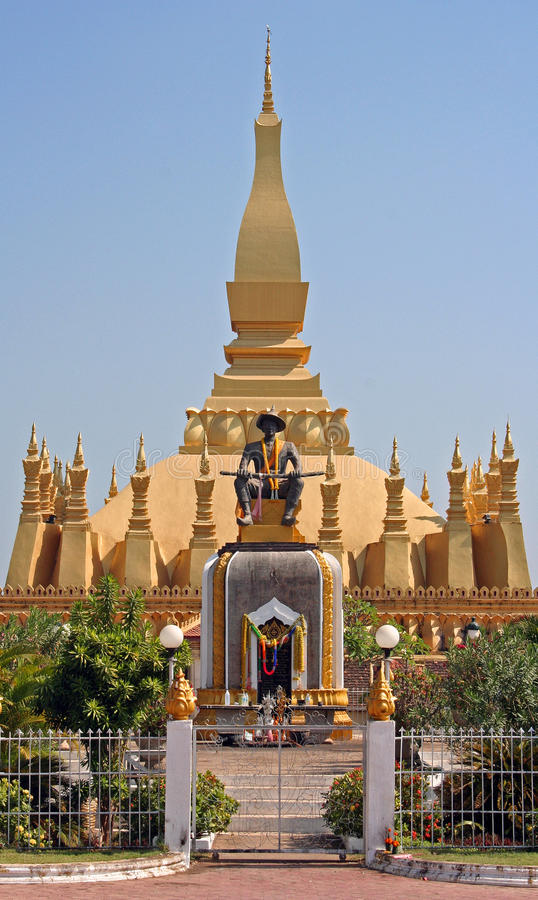Hat Luang temple in Vientiane stock photography