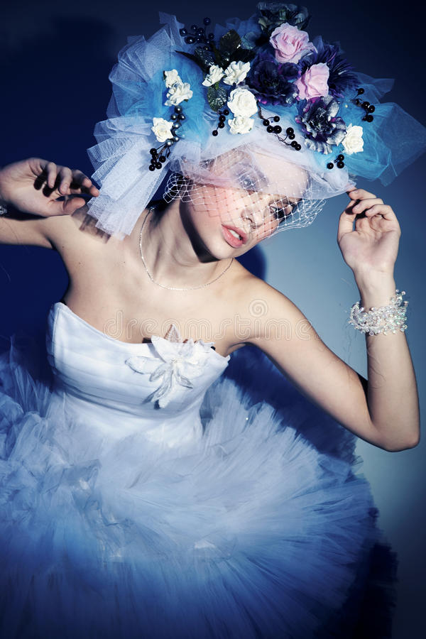 Download Hat made of flowers stock photo. Image of beautiful, fashion - 17523326
