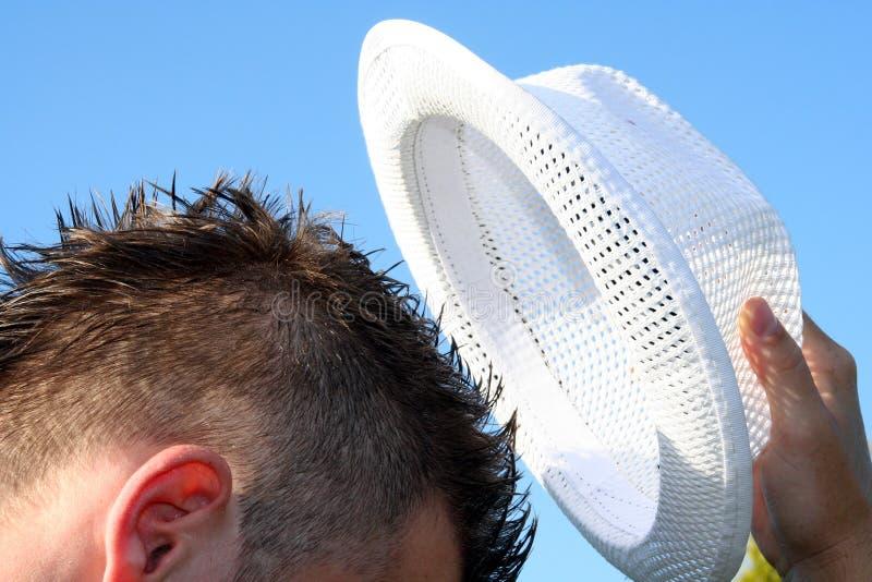 Hat off stock photo