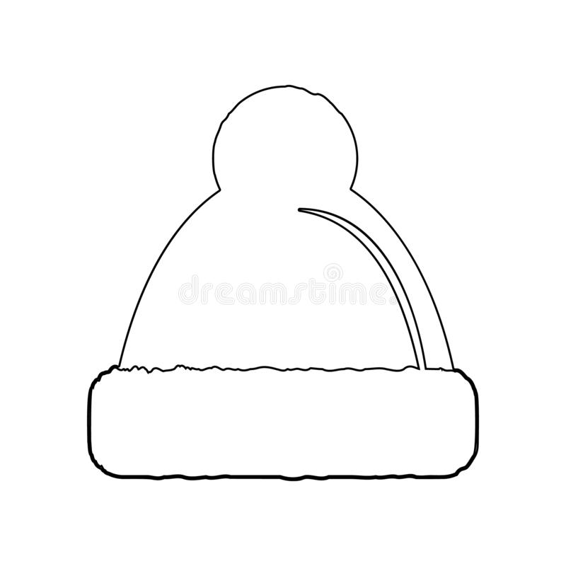 hat with pompom icon. Element of Winter for mobile concept and web apps icon. Outline, thin line icon for website design and stock illustration