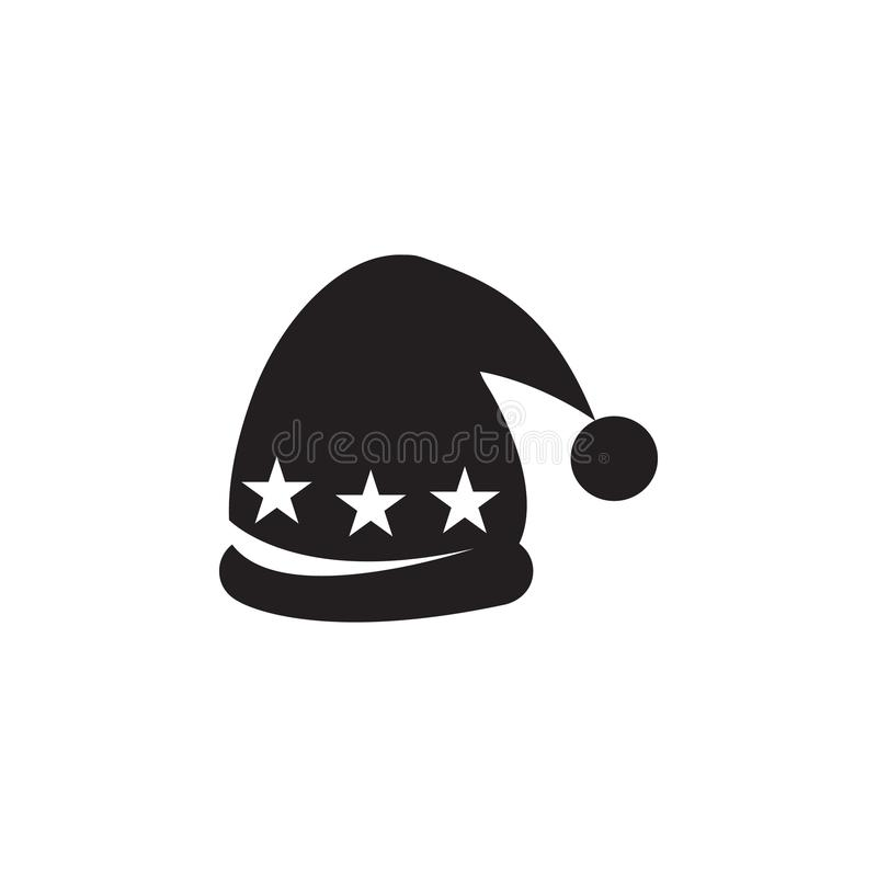 Hat with pompom icon royalty free illustration