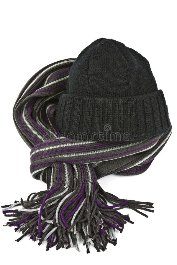 Hat and scarf royalty free stock photography
