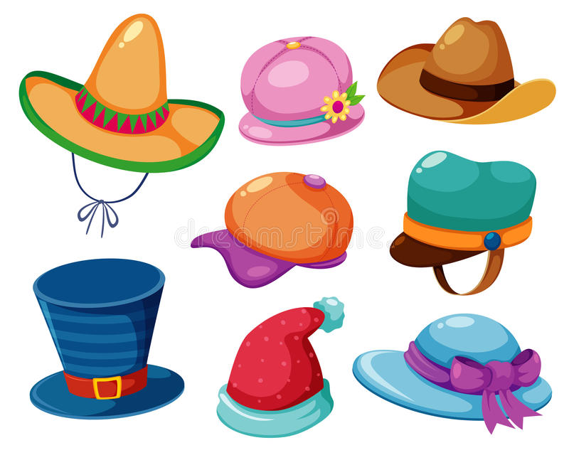 Hat set royalty free illustration