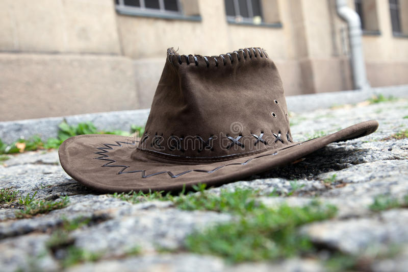 Download Hat on the street stock image. Image of headpiece, cobble - 21031189