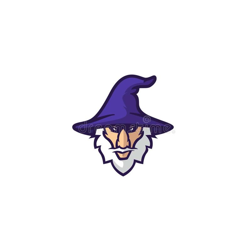 Hat witch and face magician vector illustration