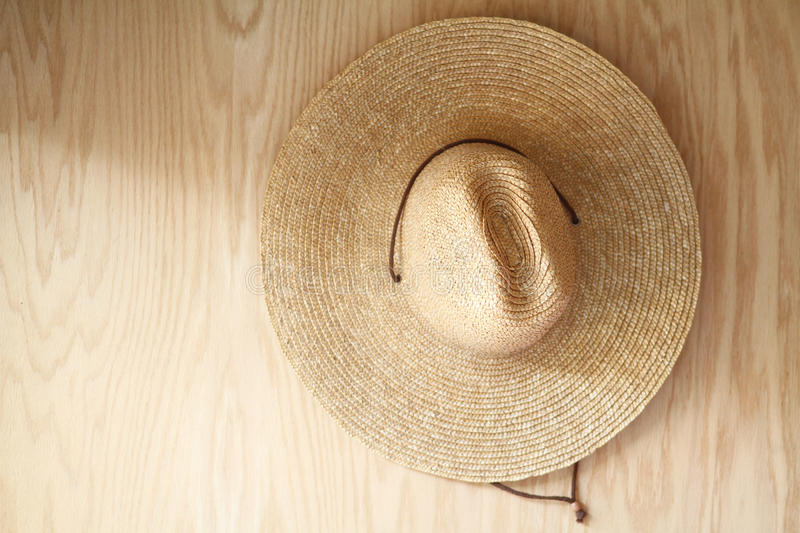 Hat on Wood royalty free stock photo