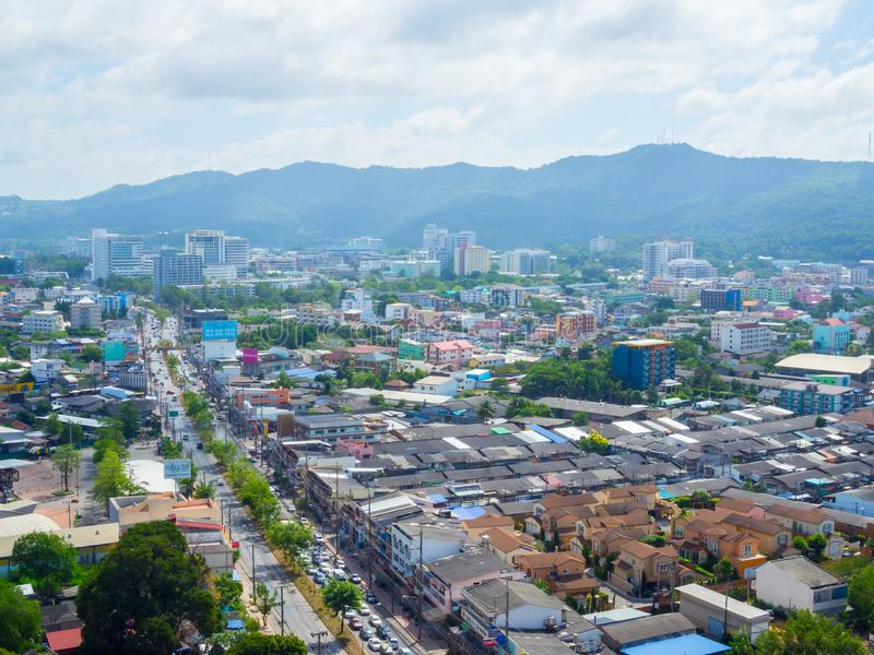 Hat Yai cityscape royaltyfri fotografi