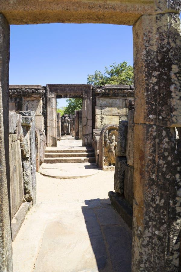 Hatadage, Polonnaruwa, Sri Lanka imágenes de archivo libres de regalías