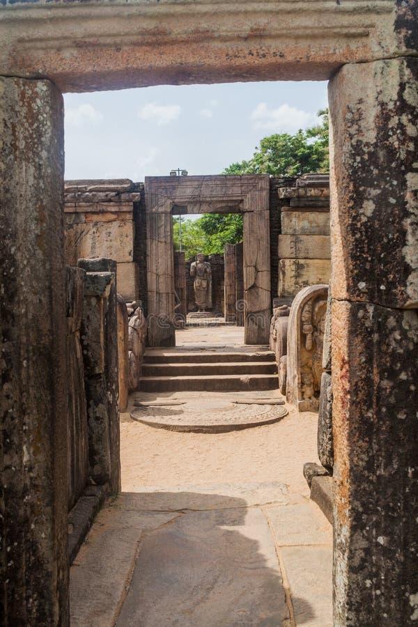 Hatadage, santuario antico della reliquia nella città Polonnaruwa, lan di Sri fotografia stock libera da diritti