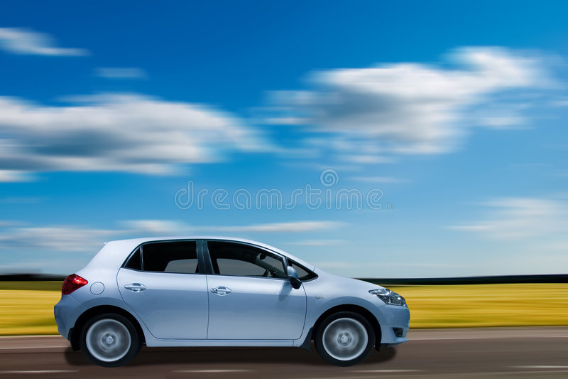 Download Hatchback family car stock image. Image of road, summer - 5582255