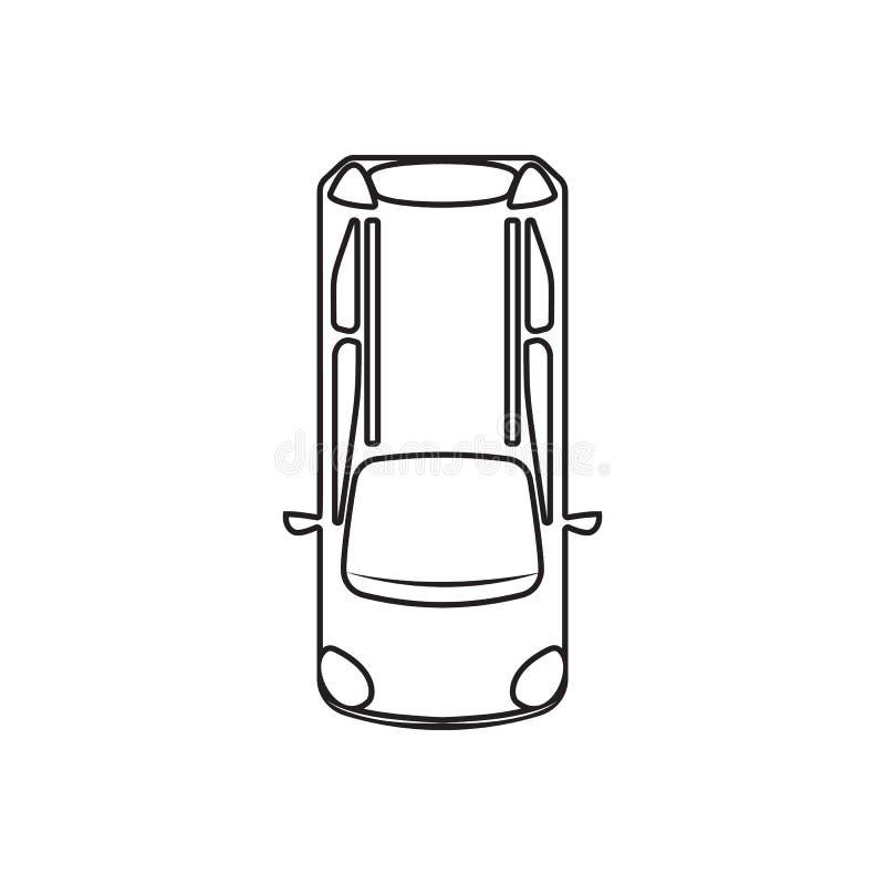 hatchback ikona Element Przewieziony widok dla mobilnego poj?cia i sieci apps ikony z g?ry Kontur, cienieje kreskow? ikon? dla st royalty ilustracja