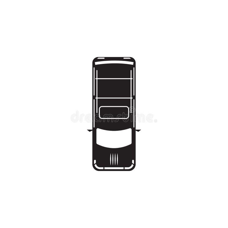 hatchback ikona Element przewieziony widok od above ikony Jeden kolekci ikona dla strona internetowa rozwoju i projekta, app dev ilustracja wektor