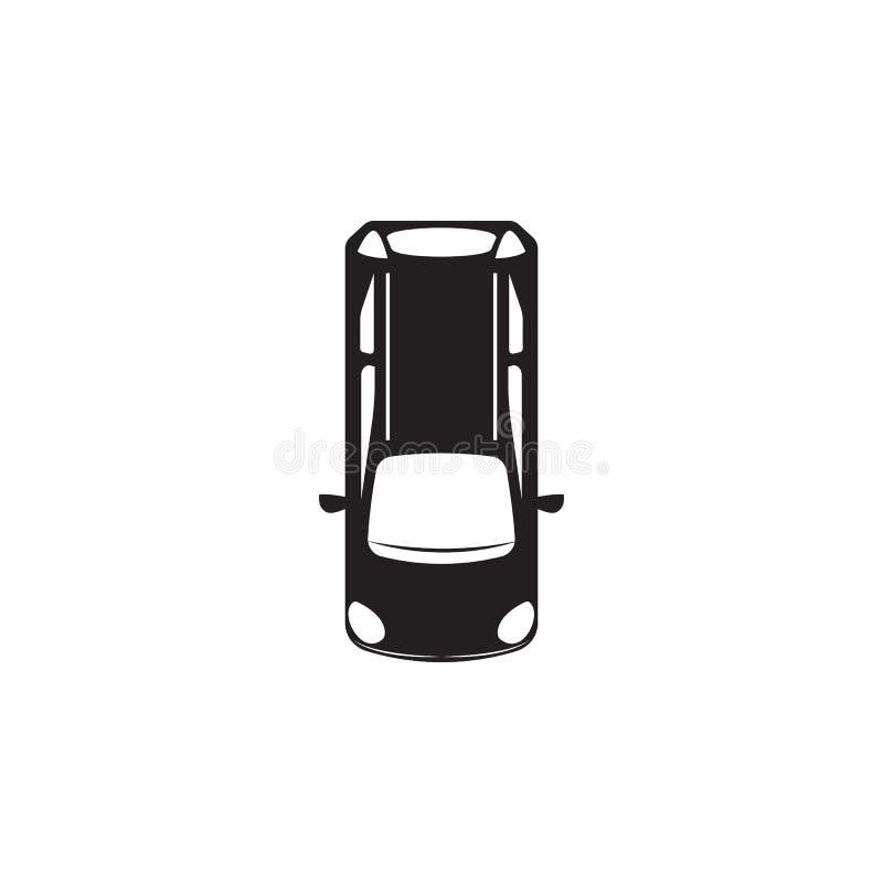 hatchback ikona Element przewieziony widok od above ikony Jeden kolekci ikona dla strona internetowa rozwoju i projekta, app dev royalty ilustracja