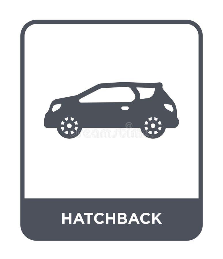 hatchback ikona w modnym projekta stylu hatchback ikona odizolowywająca na białym tle hatchback wektorowej ikony prosty i nowożyt ilustracji