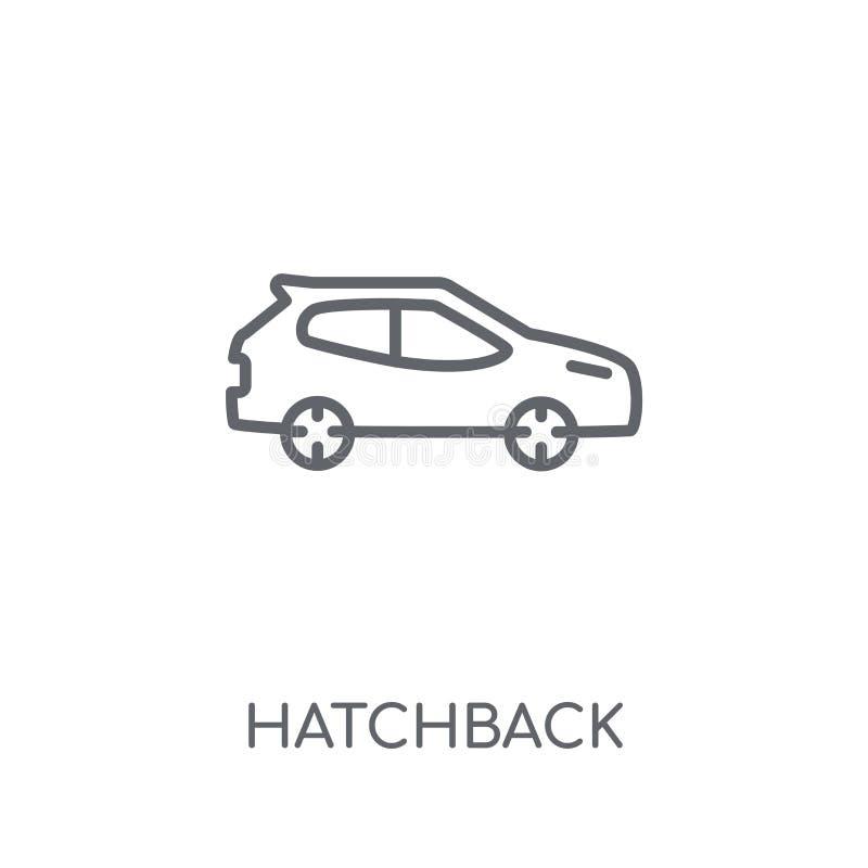 hatchback liniowa ikona Nowożytny konturu hatchback logo pojęcie dalej ilustracja wektor