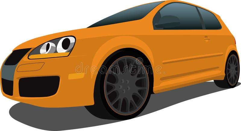 hatchback vw royalty ilustracja