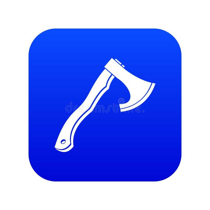 Hatchet icon digital blue. For any design isolated on white vector illustration stock illustration