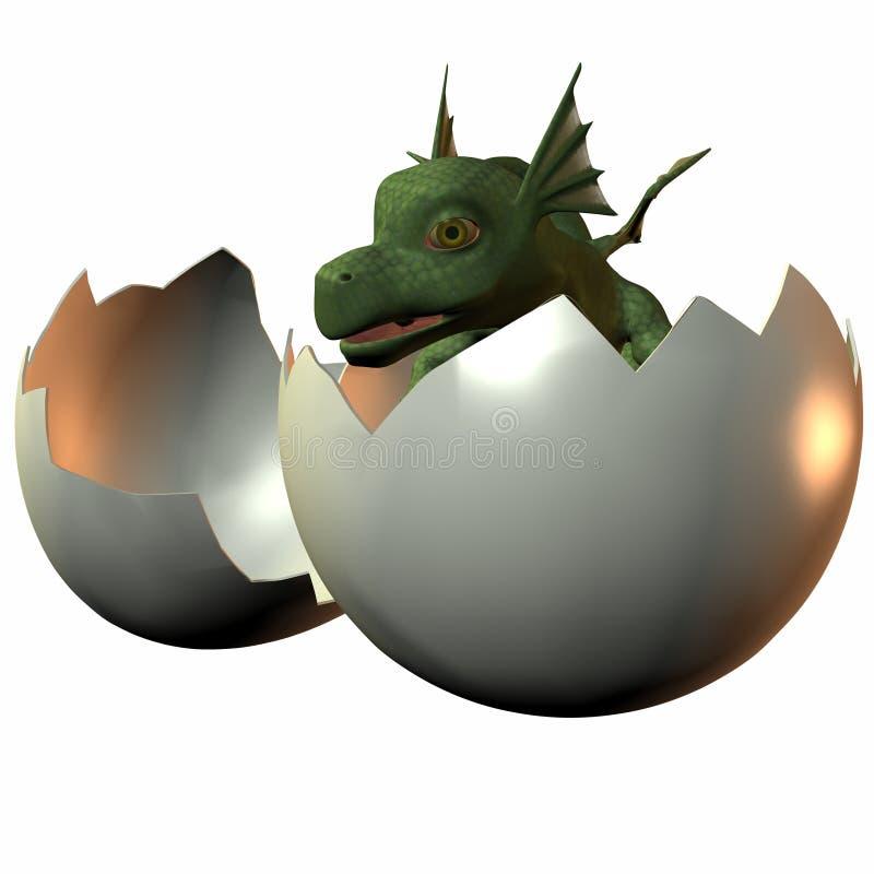 Hatchling Dragon royalty free illustration