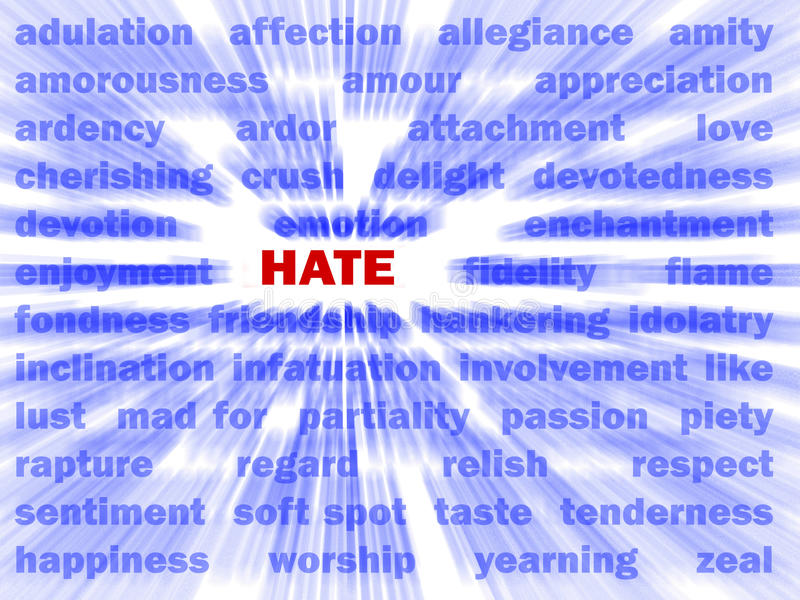 Hate vector illustration