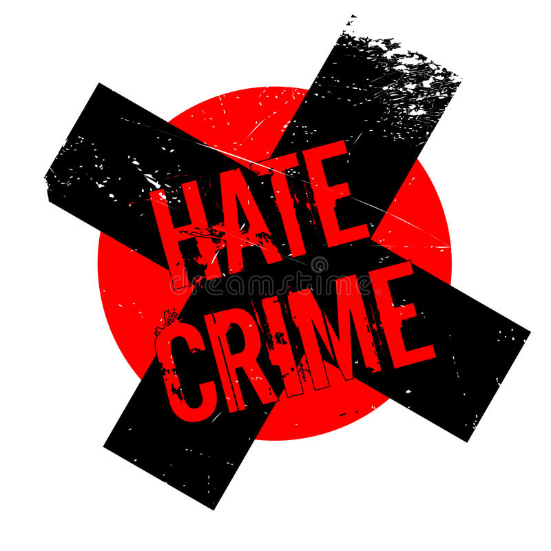Hate Crime rubber stamp. Grunge design with dust scratches. Effects can be easily removed for a clean, crisp look. Color is easily changed stock illustration