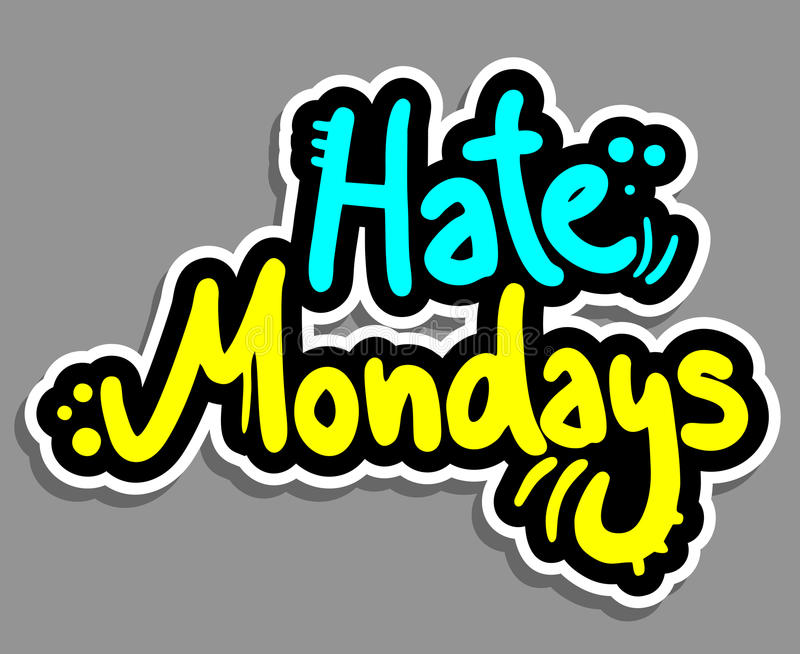 Hate monday. Creative design of hate monday stock illustration