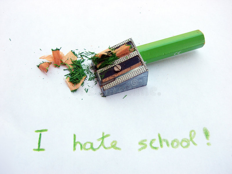 Hate school I royalty free stock photography