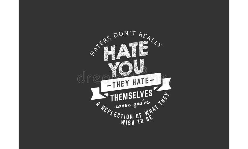 Haterscitationstecken vektor illustrationer