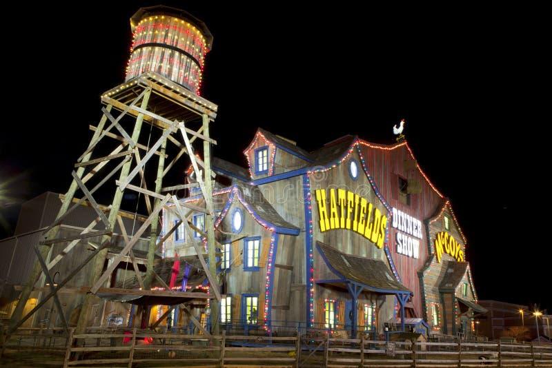 Hatfield & McCoy przedstawienia Obiadowy teatr w Gołębiej kuźni, Tennessee zdjęcie stock
