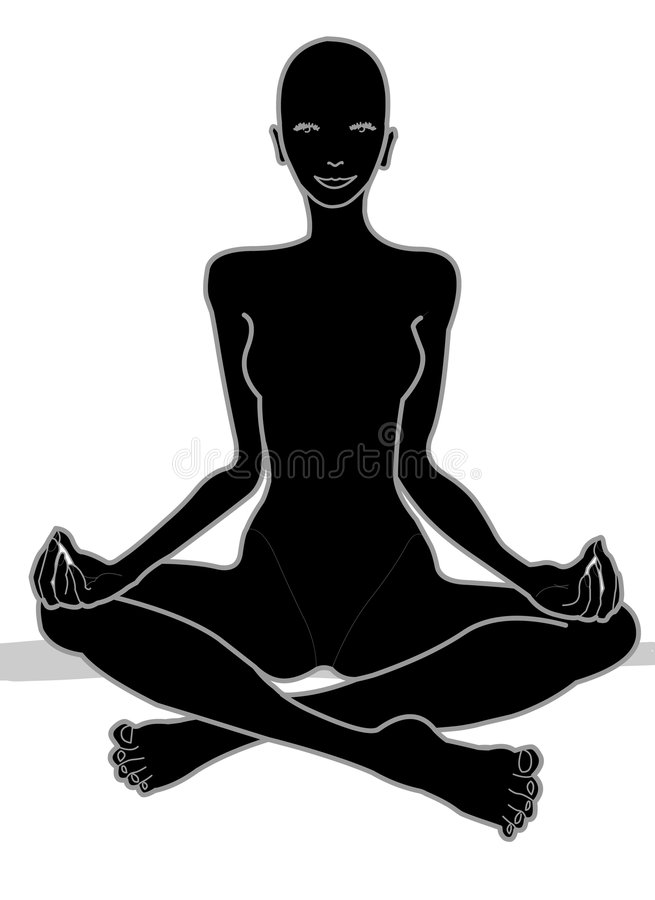 Download Hatha Yoga Chakra in Black stock illustration. Image of body - 511998