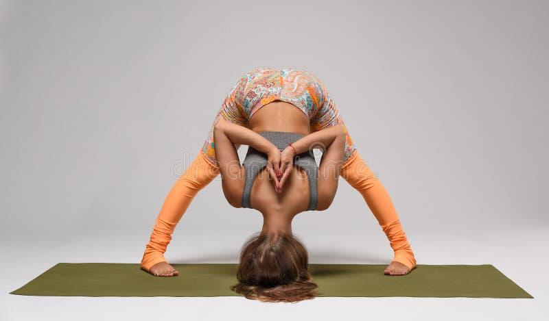 Hatha yoga poserar royaltyfria foton