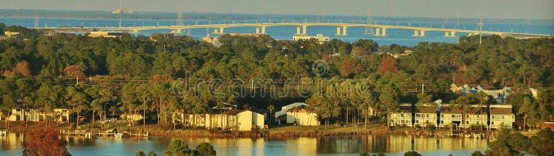 Panama City Beach Hathaway Bridge, Florida stock photo