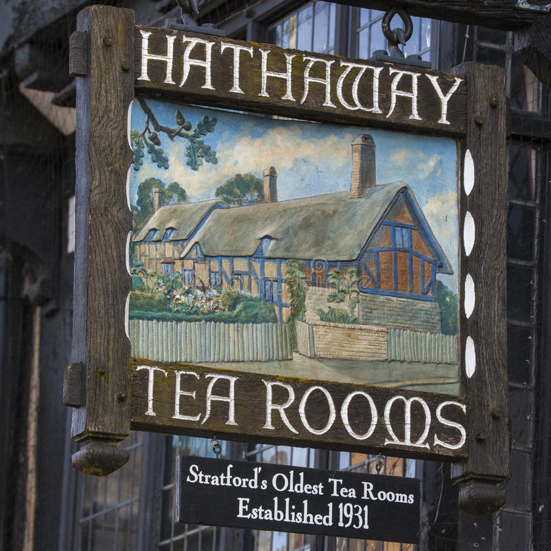 Hathaway Tea Rooms in Stratford-Upon-Avon stock images