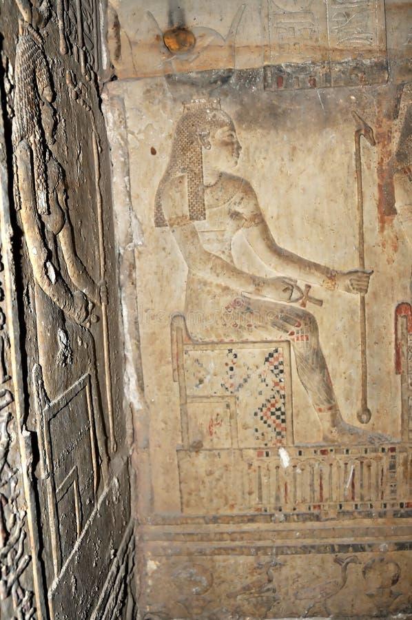 hathor świątynia zdjęcia royalty free