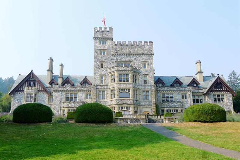 Hadley Castle, Victoria, British Columbia. Hatley Castle, a Classified Federal Heritage Building. In 1906, B.C.& x27;s Lieutenant Governor, James Dunsmuir, who royalty free stock image