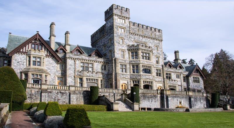Hatley Castle, Colwood, British Columbia stock image
